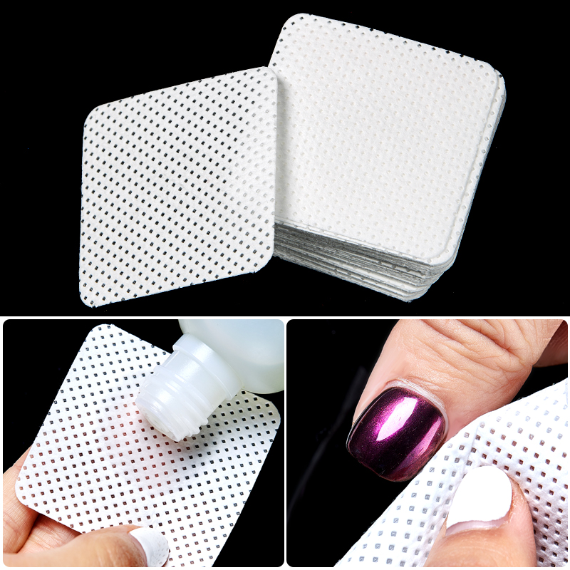 500/300/200/Lot Nail Polish Remover Nail Wipes Bath Manicure Gel Lint-Free Wipes 100%Cotton Napkins For Nails Nail Art Tool