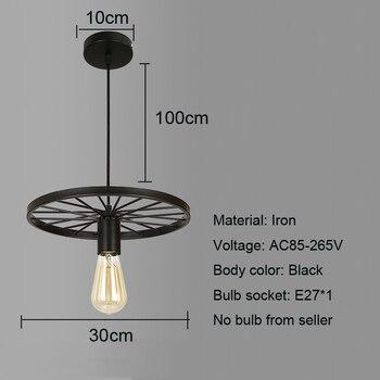 Retro Loft Industrieel Fietswiel Plafondlamp 2