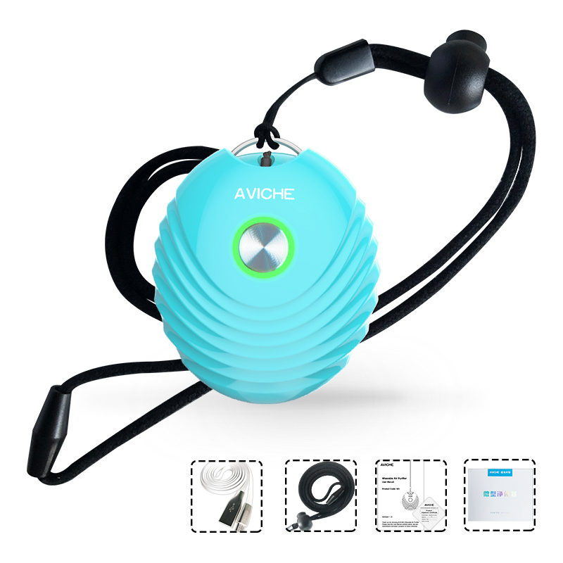 Personal Wearable Air Purifier Necklace/Mini Portable Air Freshener Ionizer/Negative Ion Generator/Low Noise For Adults Kids