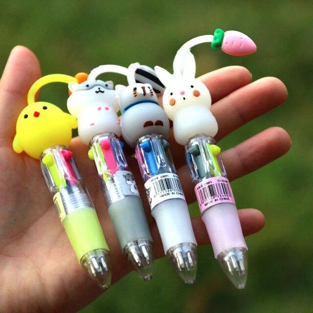 Купить 1 шт 4 цветная шариковая ручка мультфильм аниме манга милый картинки
