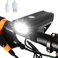 사이클링 라이트 손전등 usb 충전식 자전거 전면 조명 램프 방수 자전거 헤드 라이트