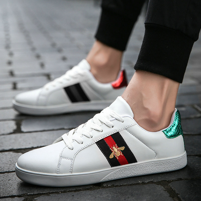 Summer Couple Shoes Mens Canvas Embroidery Board Shoes Leather Men And Women Shoes Fashion Wild Trend Sneakers Big Size 35-46