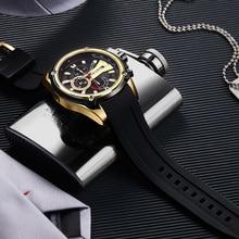 Chronograph Men Sport Watch Male Silicone Automatic Date Quartz Watches Mens Luxury Brand Waterproof Relogio Masculino цена 2017