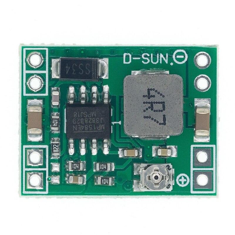 10 pces mp1584en 3a tamanho ultra-pequeno DC-DC step down módulo de alimentação ajustável step-down módulo de saída descendente