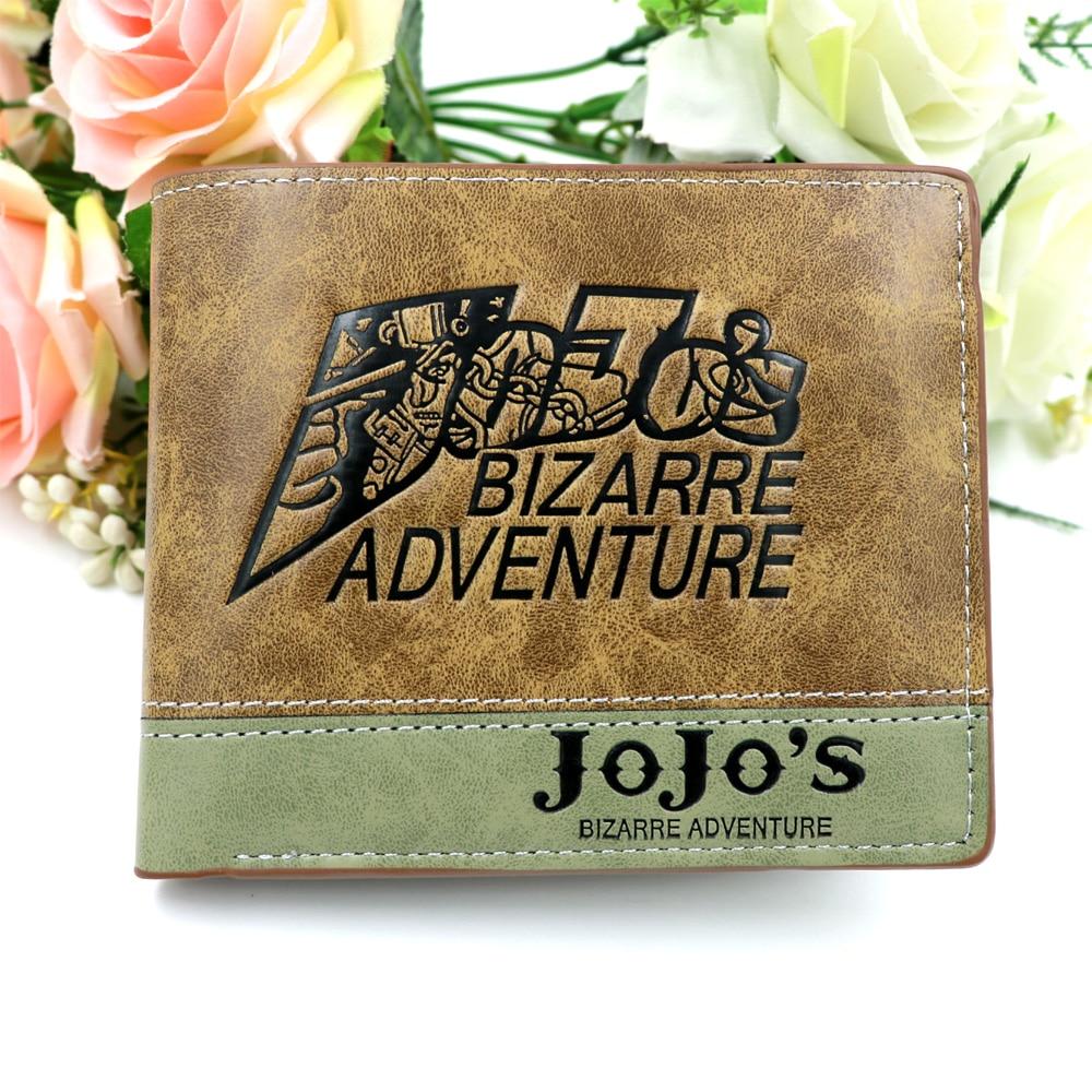 New Anime Comics Jojo Card Holder Short Wallet High Quality Folding Style Money Bag For Girl/Boy Gift Purse