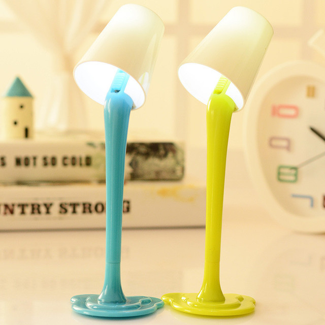 Korean Novelty Cute Kawaii Ballpoint Pen Lamp Light Rollerball Ball Fun School Office Kawai Stationary Stationery Desk Accessory 1