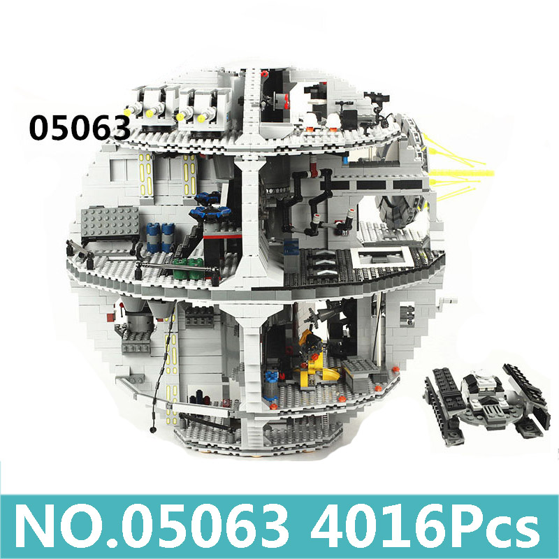 05063 05035 Death Star Model Force Awakens UCS Space Station Building Blocks Set Star Wars Series