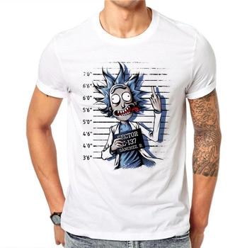 100% Cotton Summer Novelty Prisoners Design Men T Shirts Fashion Rick and Morty Print Man Short Sleeve Tops Tees Clothes 3XL 1