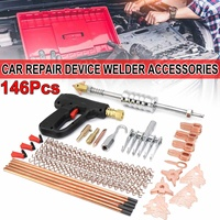 146PCS Dent Puller Kit Car Body Dent Repair Device Welder Stud Weld Welding & Soldering Supplies Sheet Metal Equipment