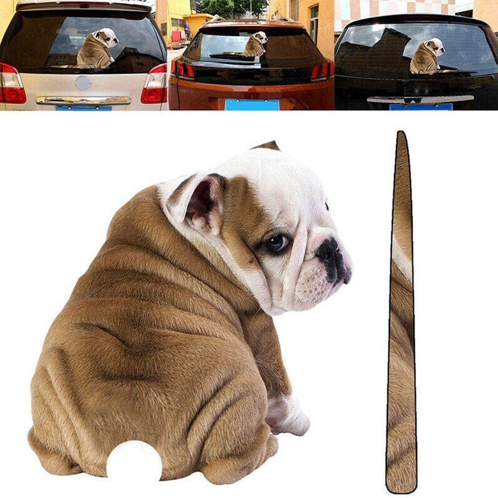 Съемный автомобильный Стайлинг A Shar Pei Dog машущая наклейка для стеклоочистителя Автомобильная наклейка из ПВХ s Аксессуары для Заднего ветро...