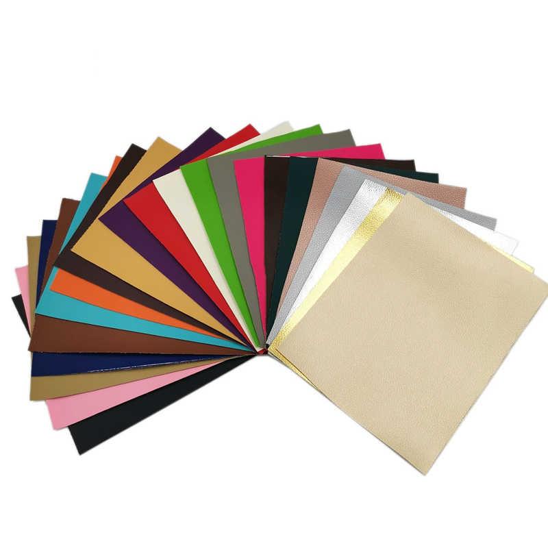 PU Leder Stoff Weiche Faux Leder Für Nähen Tasche Kleidung Sofa DIY Handgemachte Tasche Material 20X15CM Einfarbig