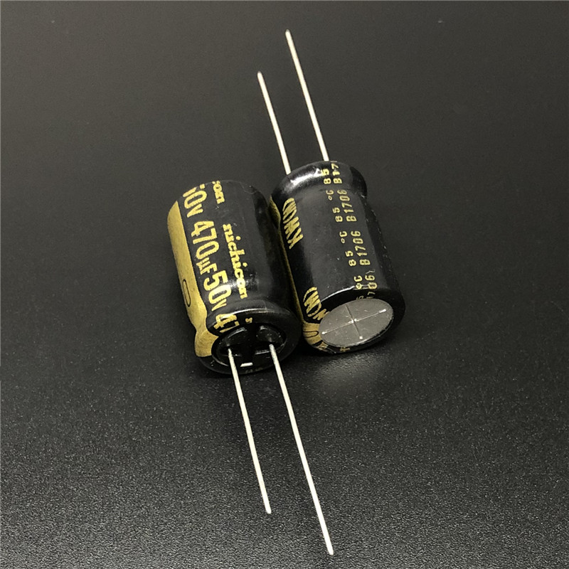 5Pcs 470uF 50V NICHICON KW Series 12.5x20mm 50V470uF HiFi Audio Capacitor