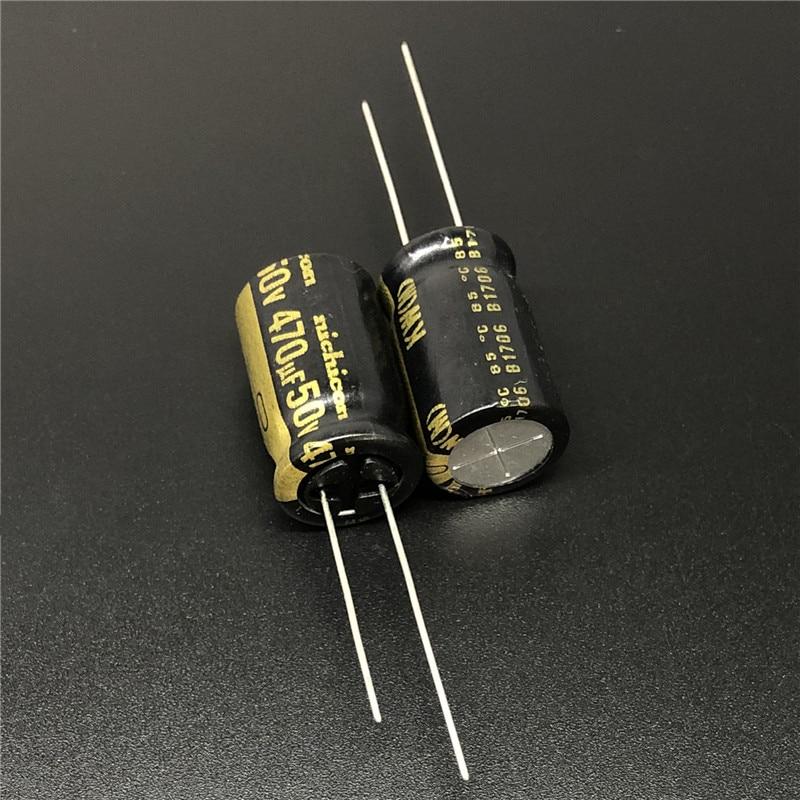 5Pcs 470uF 50V NICHICON KW Series 12.5x20mm 50V470uF HiFi Audio Capacitor