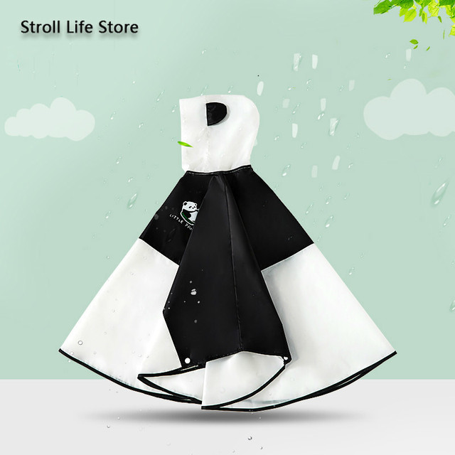 Cute Panda Kids Rain Coat Girls Waterproof Transparent Animal Poncho Rain Jacket Children Clear Rain Partner Capa De Chuva Gift