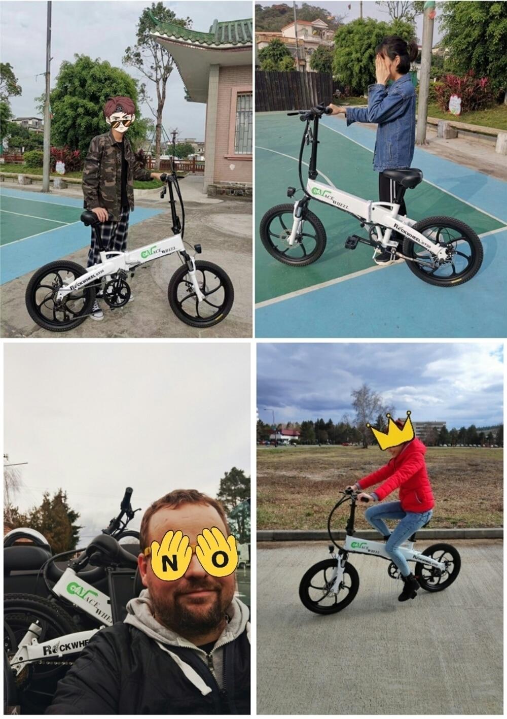 Stock & Russia Europe 20'' Electric Folding Bike 48V Motor 7 Speed gears E-Bike Front Rear Disc Brake Magnesium Alloy Wheel 6