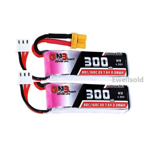2-3pcs 2S 300mAh 7 6V 80C 160C Lipo Battery XT30 plug for Micro RC FPV Racing Cine Whoop Beta FPV Drone Quadcoper Parts