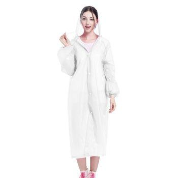 Waterproof Rain Poncho Portable Light EVA Long Style Raincoat Camping Rainwear K1KD