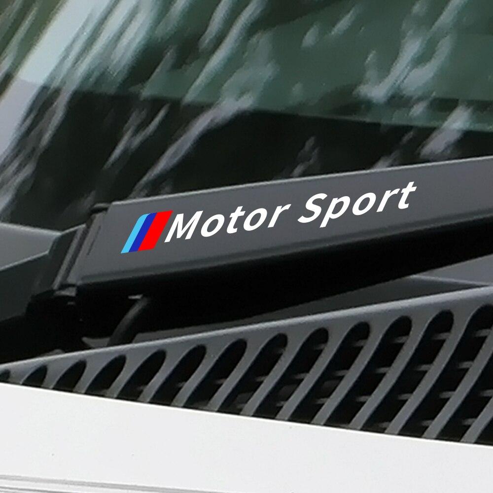 4PCS Car Window Wiper Sticker For BMW E46 E90 E60 E39 E36 E87 E92 E91 E34 F30 E10 F20 F30 G30 X6 X5 X1 X3 Car Tuning Accessories