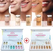 Korean Cosmetics 8ml Stem Cell Culture Ampoule BB Cream Glowing Starter Kit Dermawhite Whitening Brightening Liquid Foundation