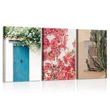 Средиземноморские настенные художественные цветочные Розовые