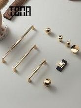 Tona armário de ouro lidar com armário puxa gaveta puxadores de ouro botões e alças móveis ferragens armário