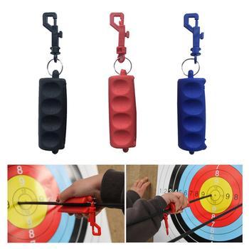 Extracción de flecha portátil Extractor de silicona tiro con arco flecha tirador caza arco llavero tiro con arco flecha accesorios 3 colores