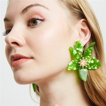 Acrylic Flower Earrings For Women Wedding Party Big Drop Vintage Geometric Boho Earings Fashion Jewelry Brincos