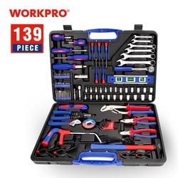 Workpro 139 Pc di Casa Strumenti di Uso Domestico Strumento Set di Cacciaviti Set di Pinze Prese Spanner Wrench