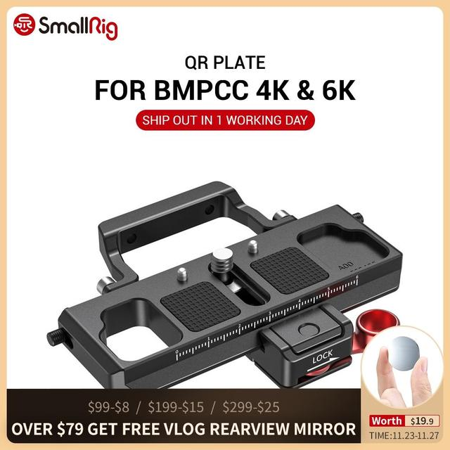 SmallRig DSLR kamera hızlı çıkarma plakası ofset kiti BMPCC 4K & 6K ve Ronin S vinç 2 moza hava 2 Gimbal 2403