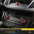 Для Ford Kuga ESCAPE 2017 2018 стайлинга автомобилей A/C кнопка включения Панель крышка обрезная рамка аксессуары для интерьера