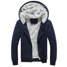 Neue Hoodies Herren Marke Kleidung Mit Kapuze Casual Winter Verdickt Warme Mantel Mann Samt Männlichen Sweatshirts Mantel Zipper Strickjacke Hoody