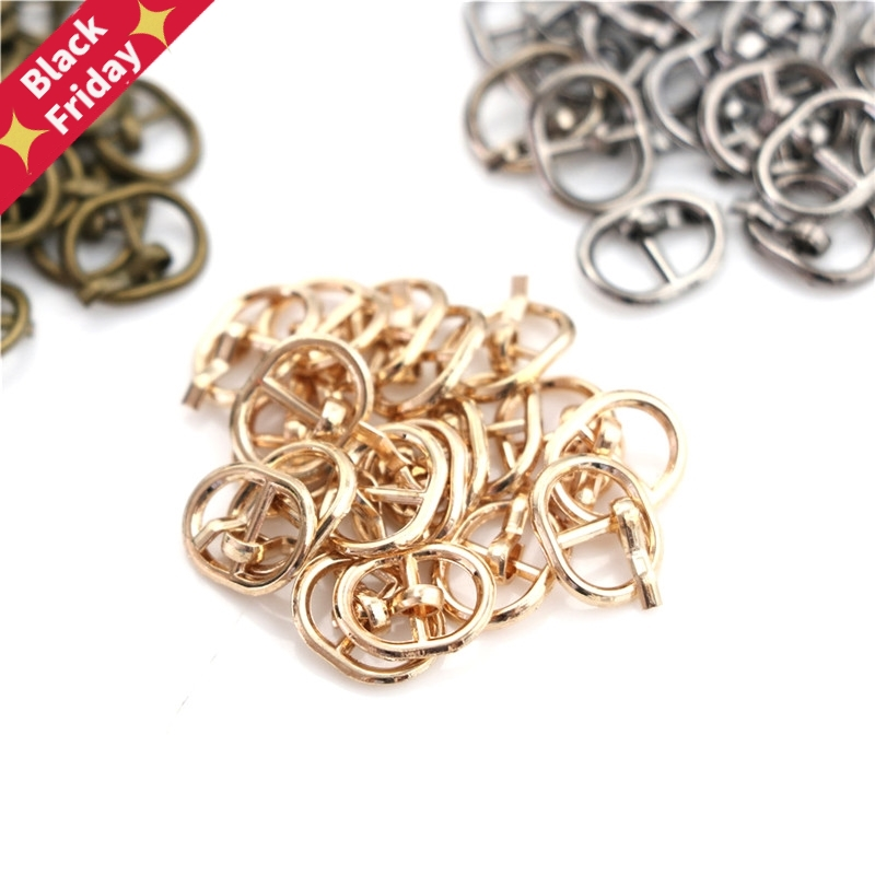 1Set (10 PCS)  Buckle Shoes Accessories Mini Ultra-small Tri-glide Buckle Belt Buckle Doll Bag Buckle