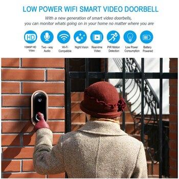 WiFi Video Doorbell Tuya 1080P Wireless Door Camera Intercom Rechargeable Battery Camera Security IP Visual Door Phone Camera 1