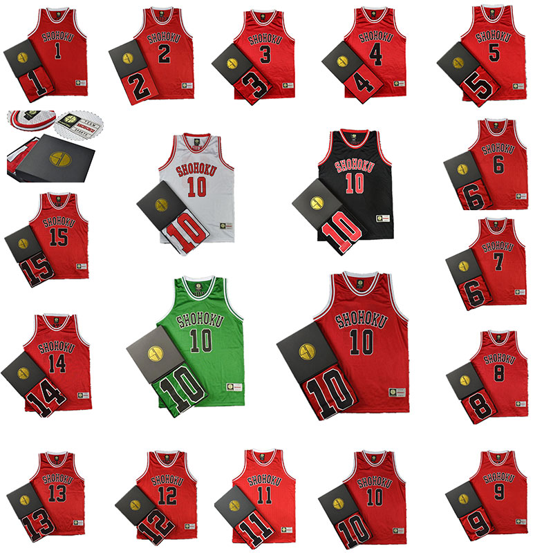 Anime SLAM DUNK Cosplay Costume Hanamichi Sakuragi Rukawa Kaede Adult Child Basketball Clothes Jersey