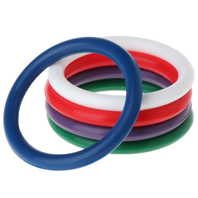 5 In1 Rainbow Penis Ring Silicone 4.0cm Cockring Cock Ring Colorful Sex Ring For Male Delay Ejaculation Adult Product