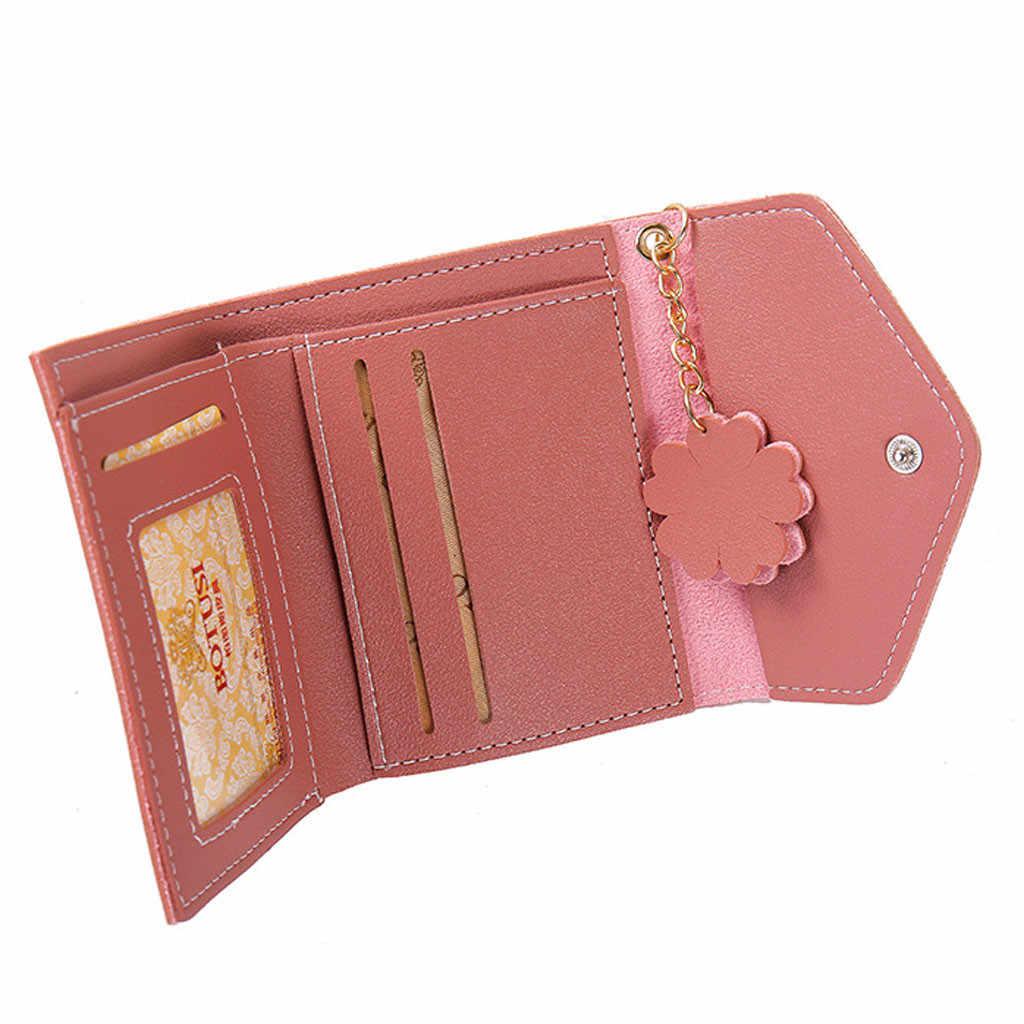 ファッションの女性の財布ショートレザーミニ財布女性カジュアル ID カードホルダーバッグ女性コイン財布ピンククラッチタッセルバッグ 8.28