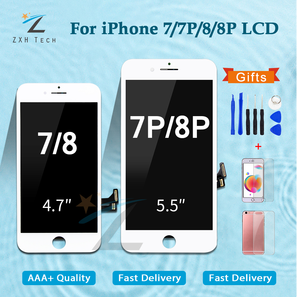 1PCS LCD For IPhone 7 7 Plus 8 8 Plus Pantalla LCD Display Touch Screen Digitizer Assembly Replacement Good 3D Touch Free Ship
