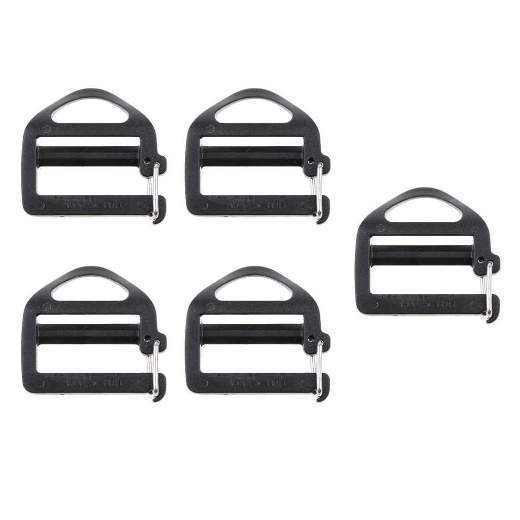5 Pieces 1 inch Plastic Triglides Slides for Webbing Fasteners Strap Backpack