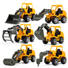 6 Styles /set Car toy Plastic Diecast Construction Engineering Vehicle Excavator Toys for boys Wholesale popass it