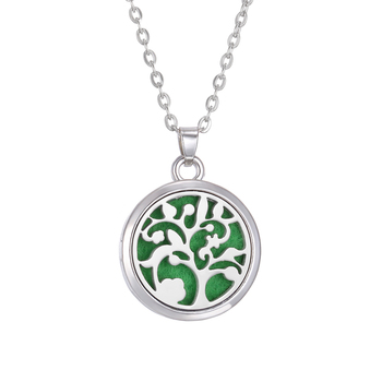 New Aromatherapy Necklace Diffuser Jewelry Tree Flower Lover Aroma Perfume Essential Oil Diffuser Necklace Box Locket Necklaces - 6