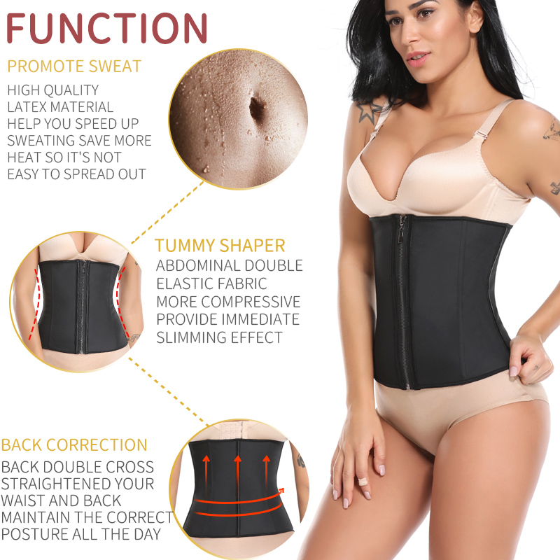 Image 2 - Waist Trainer Woman Slimming Sheath Weight Loss Shapewear Body Shaper Tummy Reducing Girdles Belly Shapers Modeling Belt CorsetWaist Cinchers   -