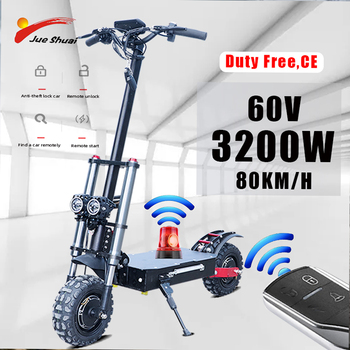 11inch 1600W*2 Motors Electric Skateboard Foldable Adult Scootor 60V 110KM Hoverboard E Scooter Patineta Electrica