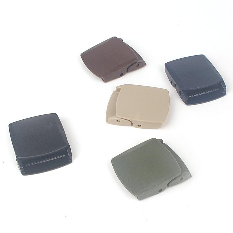 1PC High Quality 38mm Plastic Belt Buckle Men's Canvas Cosplay Military Adjustable Tied Webbing Women DIY Accessories Ceinture