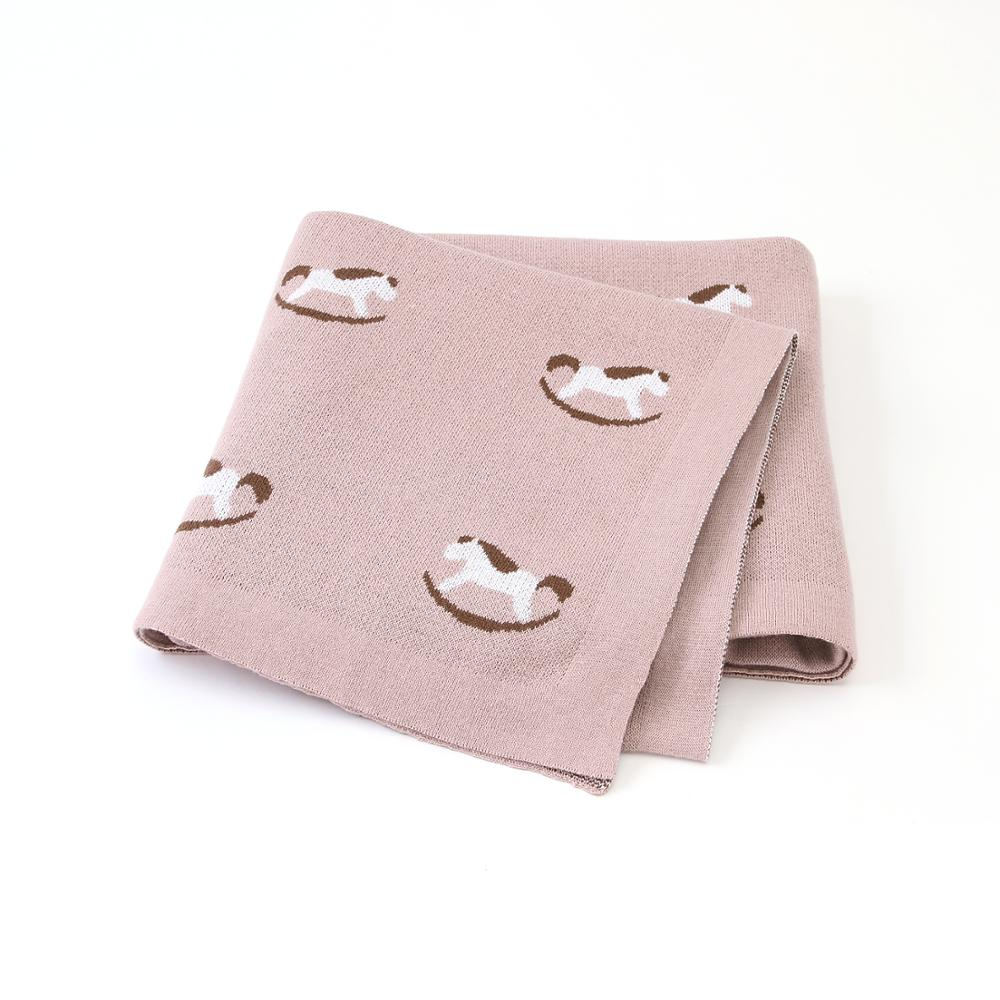Baby Blankets Newborn Knitted Crib Bedding Covers Super Soft Infant Boys Girls Stroller Swaddle Blanket 100*80cm Toddler Quilts