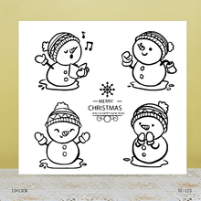 ZhuoAng Happy snowman Transparent seal / sealed DIY scrapbook / album decoration card / seamless seal