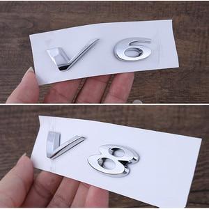 Image 4 - V6 V8 3.0 5.0 AWD XF XJL رسائل شعار ل جاكوار كروم شارة درابزين جذع تفريغ قدرة شعار سيارة ملصقات التصميم