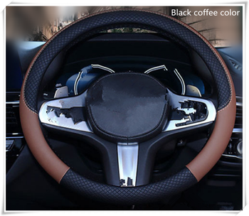 High quality 37-38 cm diameter car parts steering wheel cover for BMW F-series E46 E90 F09 1 2 3 4 all series 5 6 7 X E image
