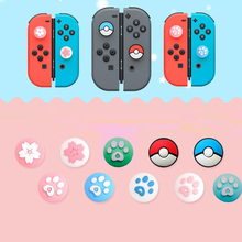 Cute Cat Claw Sakura Thumb Stick Grip Cap Joystick Cover For Nintend Switch Lite NS Joy Con Controller Gamepad Thumbstick Case