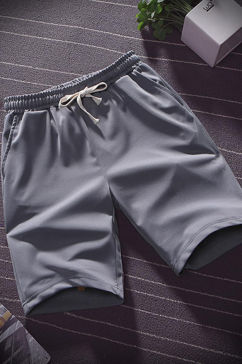 Summer thin ice silk five minute pants men wear loose sports casual shorts pyjama pants beach pants home big pants 6