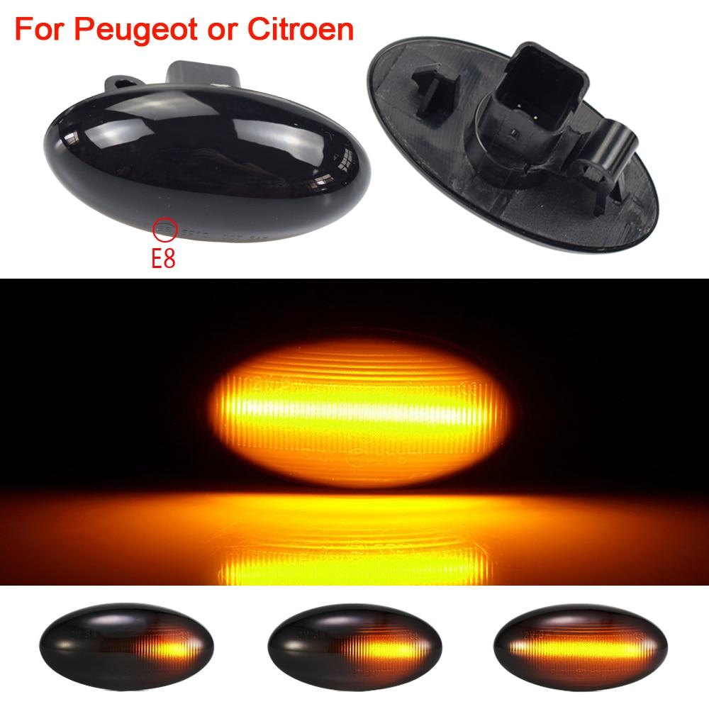 Для Peugeot 307 206 407 107 607 Citroen C1 C2 C3 C5 светодиодный динамический сигнал поворота светильник